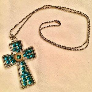 Jewelry - Rhinestone cross necklace